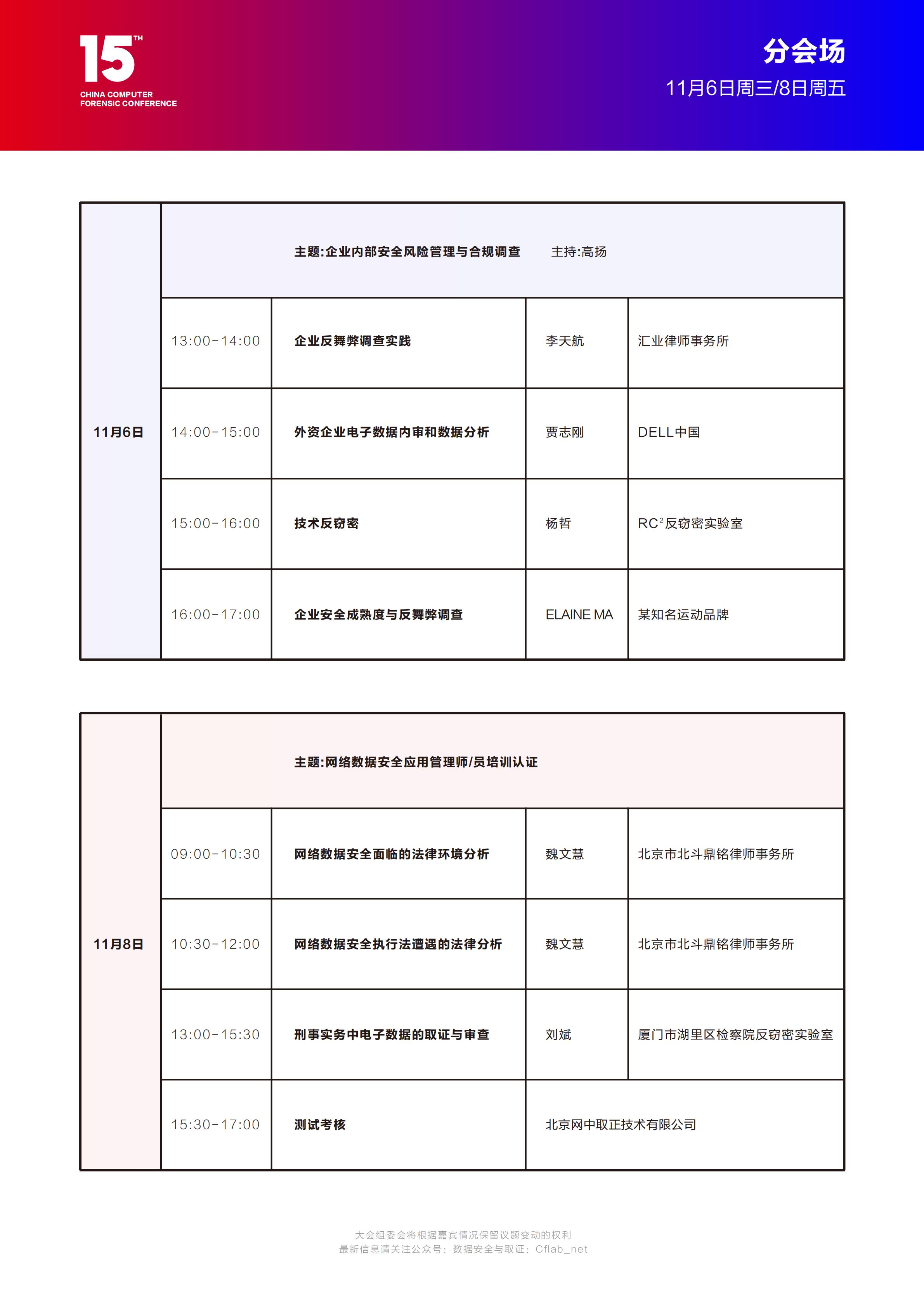 第15届CCFC计算机取证峰会邀请函-日程表最终版_03
